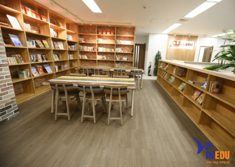 Một góc của thư viện trường