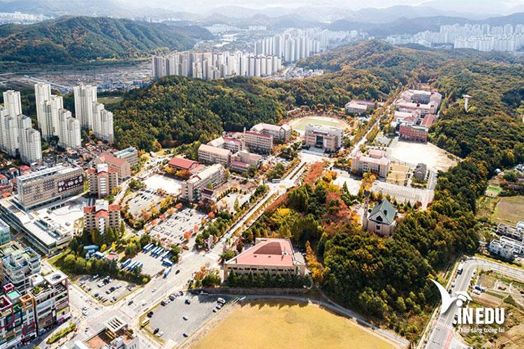 Khung cảnh trường Mokwon nhìn từ trên cao
