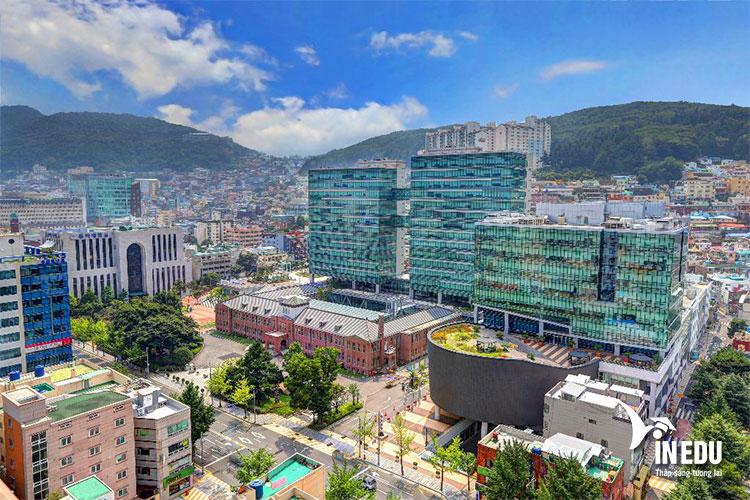Khuôn viên trường Dong A nhìn từ trên cao