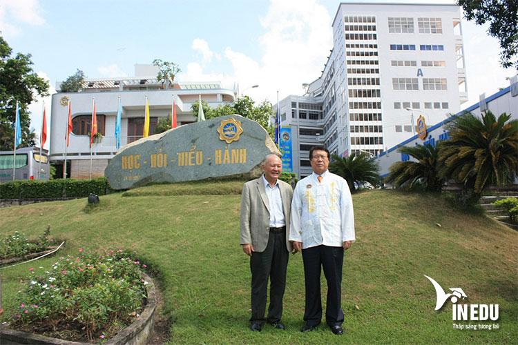 Lãnh đạo trường Dong A đến thăm trường ĐH Bình Dương Việt Nam