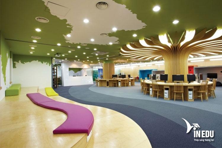 Thư viện đẹp như tranh của trường Mokwon