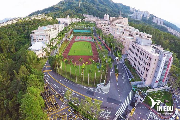 Toàn cảnh đại học Cảnh Văn nhìn từ trên cao