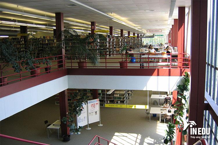 Thư viện trường tiện nghi, hiện đại