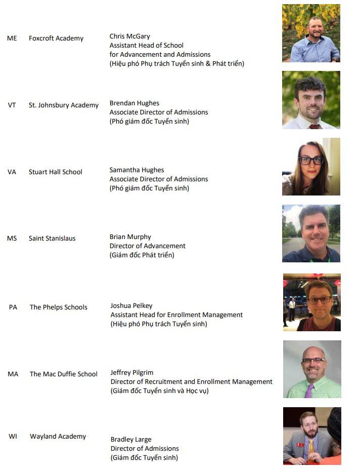 Danh sách 7 đại diện các trường THPT Mỹ phỏng vẫn tuyển sinh học bổng ngày 15/9