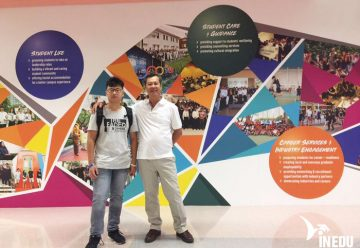 Chúc mừng Trần Gia Thụ đã đặt chân đến Học viện PSB, Singapore