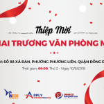 Thư mời tham dự lễ khai trương văn phòng VinEdu – Chi nhánh thứ 5 tại Xã Đàn, Hà Nội