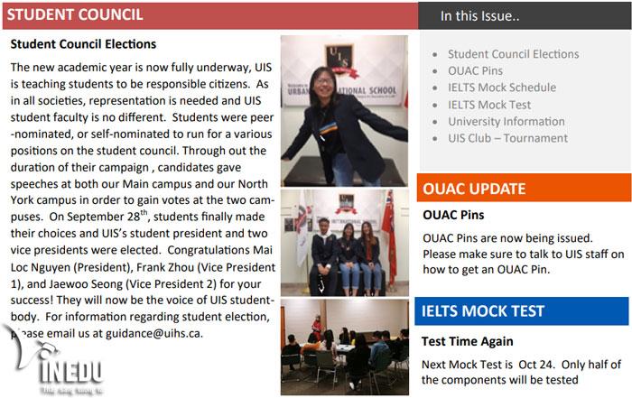 Học sinh Việt được bổ nhiệm làm Chủ tịch hội học sinh tại trường UIS, Canada