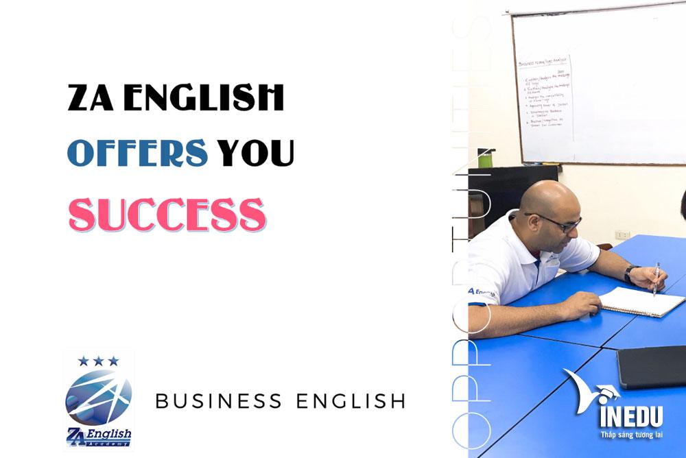 Khóa học tiếng Anh Business cùng giảng viên bản xứ tại trường ZA English