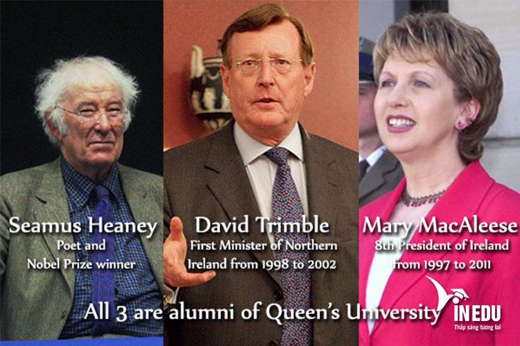 3 trong số rất nhiều cựu sinh viên nổi bật nhất trường Queen's Belfast