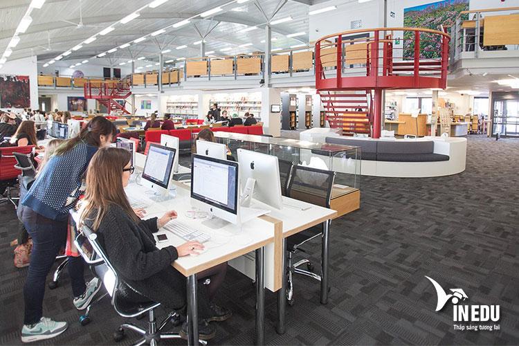 Khu thư viện hiện đại của trường