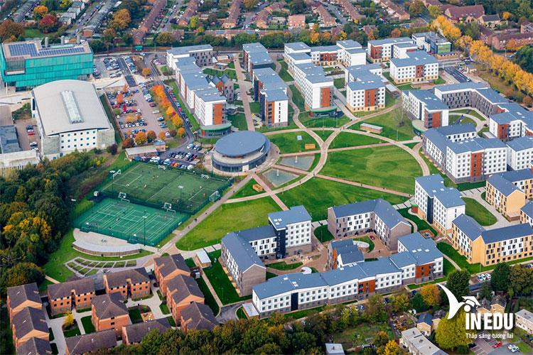 Khuôn viên trường nhìn từ trên cao