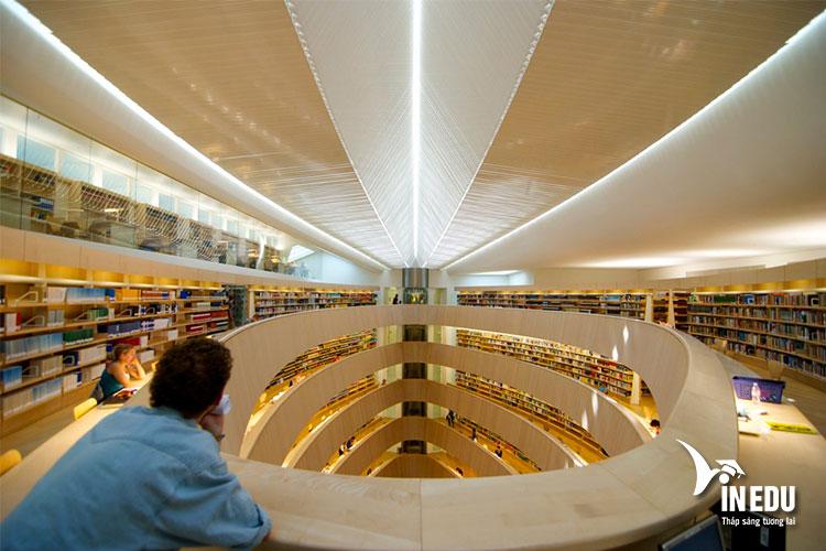 Nghiên cứu tài liệu tại thư viện trường