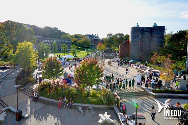 Khuôn viên rộng lớn của trường đại học Keele