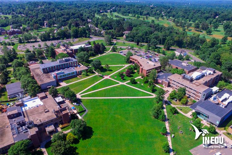 Khuôn viên trường rộng lớn và được trang bị các thiết bị học tập hiện đại