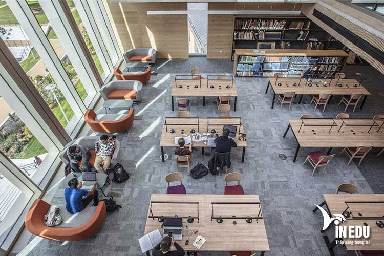 Thư viện tuyệt đẹp của trường